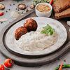 Фото к позиции меню Рыбные тефтельки терияки с картофельным пюре