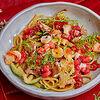 Фото к позиции меню Паста с осьминогом и креветками