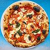 Фото к позиции меню Пицца с осьминогом и чоризо