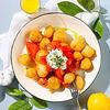 Фото к позиции меню Теплый салат с хрустящим баклажаном