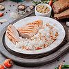 Фото к позиции меню Куриная грудка гриль с рисом и овощами