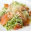 Фото к позиции меню Цезарь с лососем салат