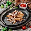 Фото к позиции меню Жареный картофель с цыпленком