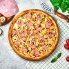 Фото к позиции меню Пицца с ветчиной и грибами