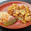 Фото к позиции меню Картофель жареный с луком