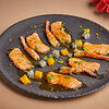 Фото к позиции меню Обоженный лосось с магаданскими креветками