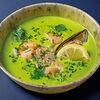 Фото к позиции меню Зеленый суп с морепродуктами
