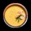 Фото к позиции меню Суп из гороха маш с креветками