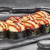 Фото к позиции меню Запеченный Ролл с острым лососем