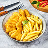 Фото к позиции меню Наггетсы куриные с картофелем фри Big