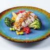Фото к позиции меню Куриная грудка с овощами и пюре из батата