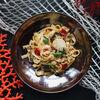 Фото к позиции меню Тальятелли с морепродуктами в томатном соусе