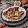 Фото к позиции меню Стейк из свинины BBQ с картофелем по-деревенски