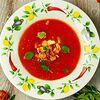 Фото к позиции меню Рыбный суп из средиземноморского сибаса с томатами