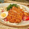 Фото к позиции меню Салат с хрустящим цыпленком