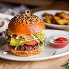 Фото к позиции меню Мраморный чизбургер