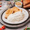 Фото к позиции меню Куриный шницель с картофельным пюре