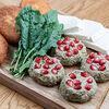 Фото к позиции меню Грузинская закуска: сыр, зелень, пхали из зелёной фасоли, мчади
