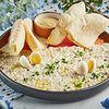 Фото к позиции меню Форшмак с перепелиным яйцом, сыром и Мацой