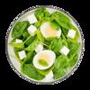 Фото к позиции меню Пот с яйцом, сыром фета и шпинатом