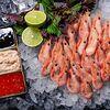 Фото к позиции меню Креветка пивная гавайская