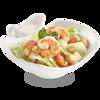 Фото к позиции меню Цезарь с креветкой салат