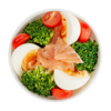 Фото к позиции меню Пот с сёмгой и яйцом