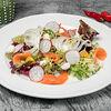 Фото к позиции меню Нежный салат с лососем
